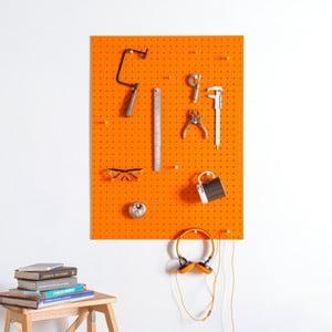 Oranžová multifunkční nástěnka Pegboard Large, 61x81cm