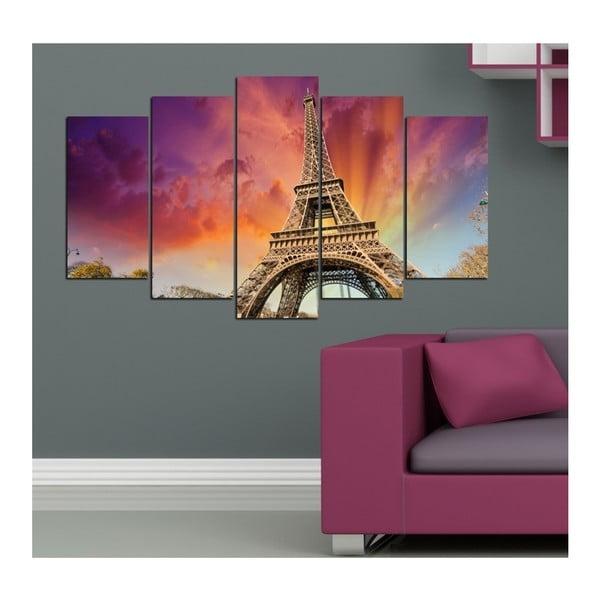 Vícedílný obraz Insigne Fall Eiffel, 102x60cm