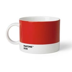 Červený hrnek na čaj Pantone 2053, 475 ml
