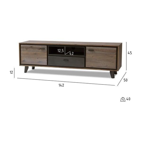 TV stolek z akáciového dřeva Furnhouse Malaga Duo