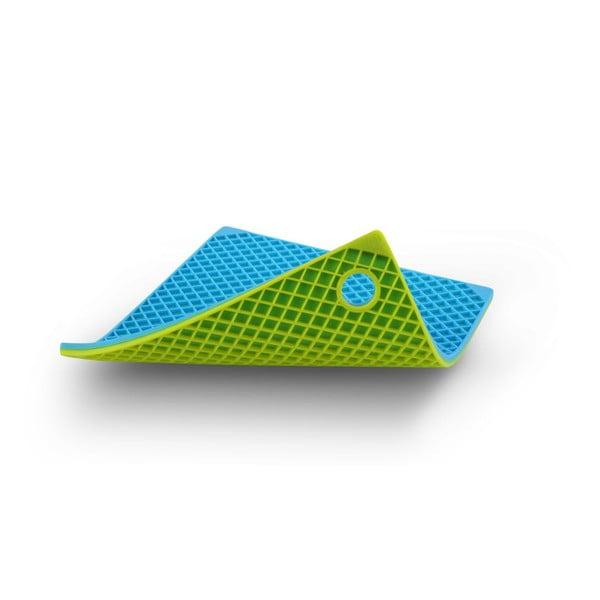 Silikonová chňapka, modrá/zelená