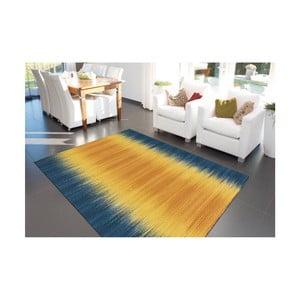 Modro-žlutý ručně vyráběný koberec Arte Espina Sunset 8070, 90x160cm