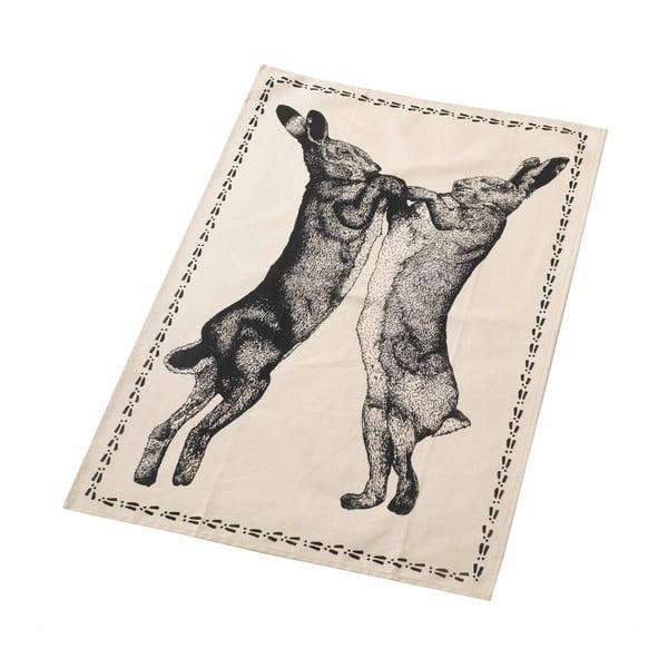 Utěrka Boxin Hare, bílá/černá