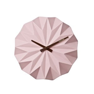 Růžové nástěnné hodiny Karlsson Origami