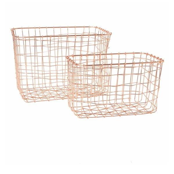 Sada 2 košíků v měděné barvě Sass & Belle Wire Mesh