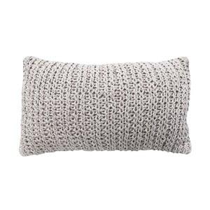 Pernă tricotată OVERSEAS Vertigo White, 30 x 50 cm