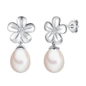 Perlové náušnice s pravým diamantem a perlou Tess Diamonds Celestina