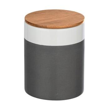 Cutie depozitare din ceramică cu capac din bambus Wenko Malta, 950 ml imagine