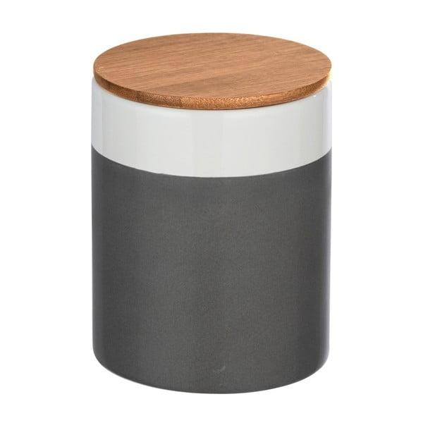 Ceramiczny pojemnik z bambusową pokrywką Wenko Malta, 950 ml