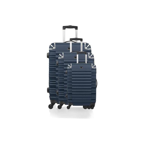 Sada 3 kufrů Brand Developpement Roues Cadenas Navy, 105 l/72 l/40 l