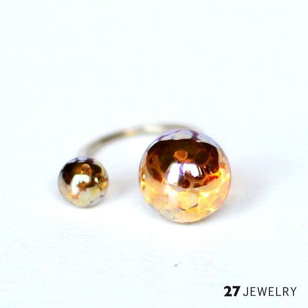 Smooth dvojitý prsten ze skla