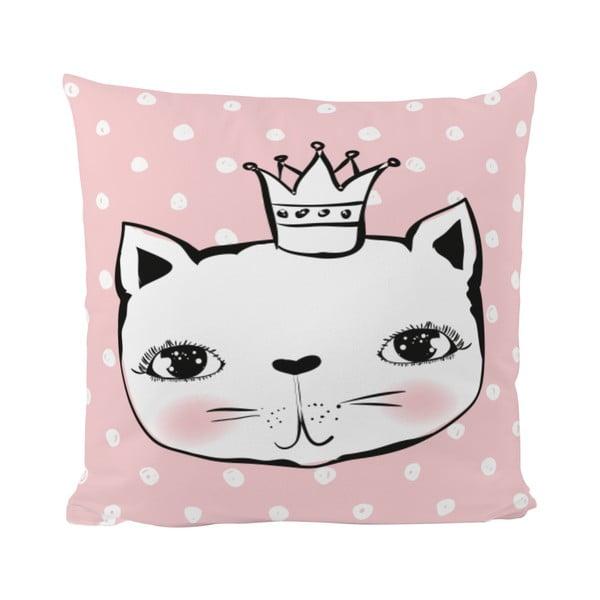 Polštář Cat Princess, 50x50 cm