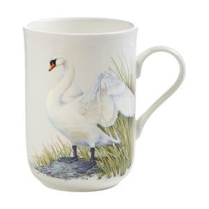 Hrnek z kostního porcelánu Maxwell & Williams Birds Swans, 330 ml