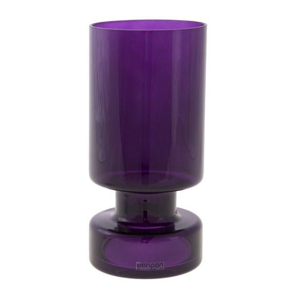 Váza/svícen Delhi 17.8 cm, fialová