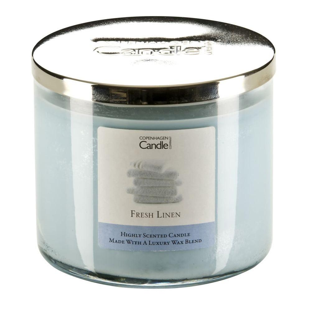 Aroma svíčka Copenhagen Candles Fresh Linen, doba hoření 50 hodin