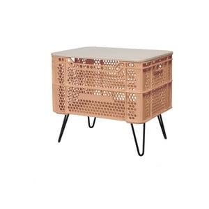 Oranžový konferenční stolek z recyklovaného plastu Really Nice Things Eco
