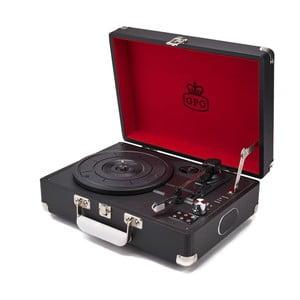 Černý gramofon s rádiem GPO Attache Black