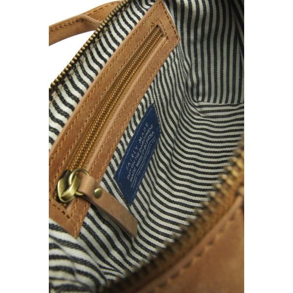 Hnědá kožená kabelka O My Bag Fly Violet Nano