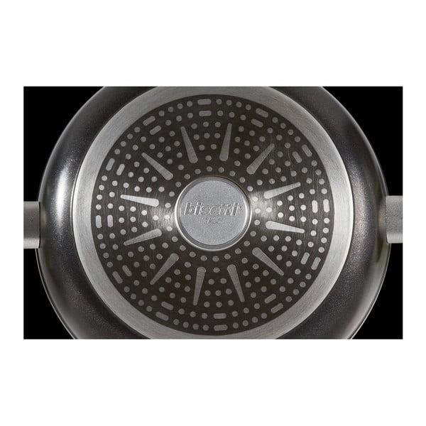 Hrnec s pokličkou a úchyty ve stříbrné barvě Bisetti Black Diamond, výška11,4cm