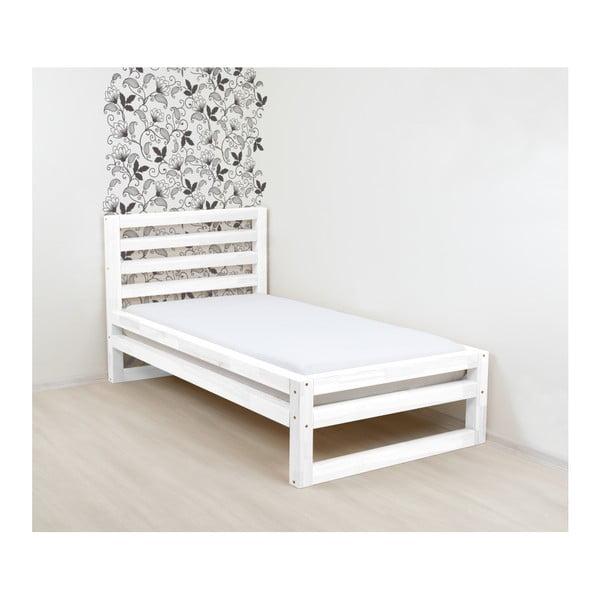 Bílá dřevěná jednolůžková postel Benlemi DeLuxe, 200x120cm