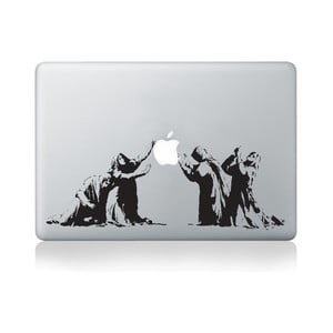 "Samolepka na notebook 15"" Apple Reverence by Banksy"