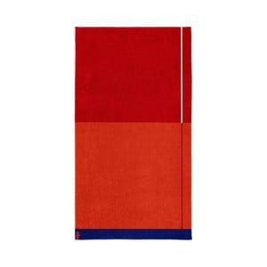Červená bavlněná osuška Seahorse Block, 180x100cm