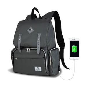 Antracitový batoh pro maminky s USB portem My Valice MOTHER STAR Baby Care Backpack