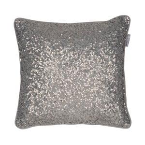 Hnědý polštář Walra Glitter, 45x45cm