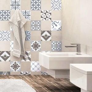 Set 24 autocolante Ambiance Mosaic Portugal, 10 x 10 cm