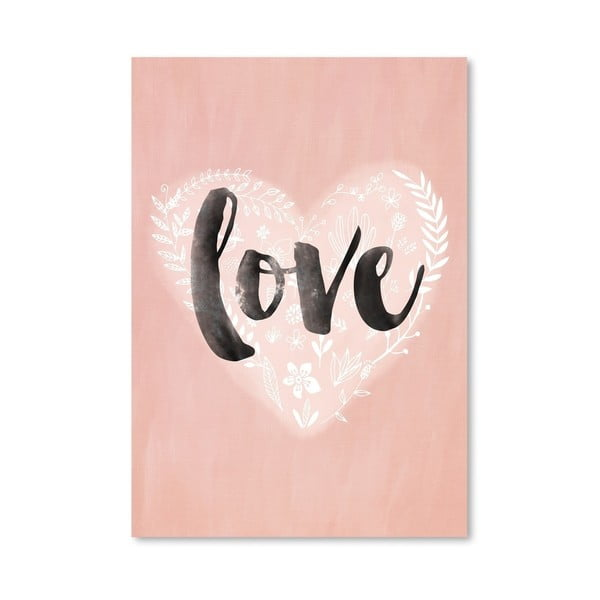 Plakát od Mia Charro - Love Heart