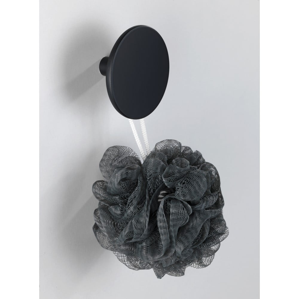 Produktové foto Matně černý nástěnný háček Wenko Melle, ⌀8cm