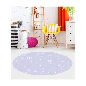 Modrý dětský koberec Floorart Stars, ⌀ 150 cm