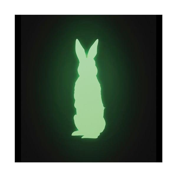 Samolepka svítící ve tmě Zajíc