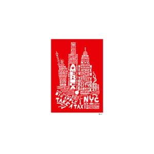Plakát New York Red&White, 50x70 cm