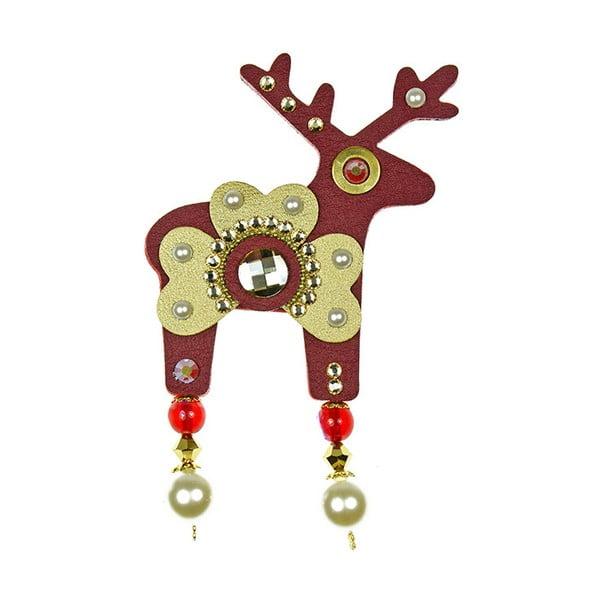 Broșă Deers Beatrice, mare, roșu