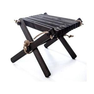 Černá stolička z borovicového dřeva EcoFurn Lili