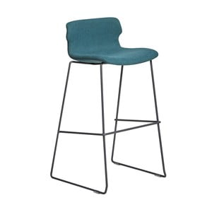 Sada 4 modrých barových židlí Marckeric Cala
