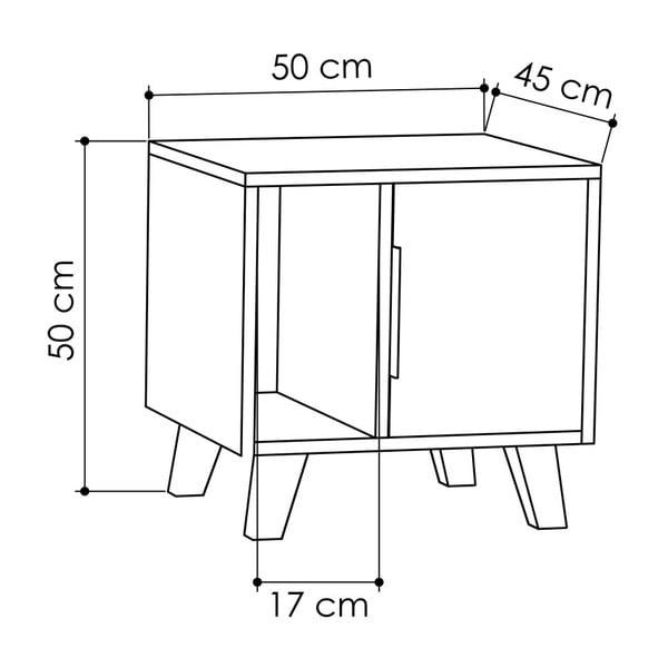 Bílý noční stolek Homitis Border