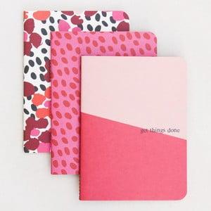 Sada 3 zápisníků Caroline Gardner Jumble Notebooks
