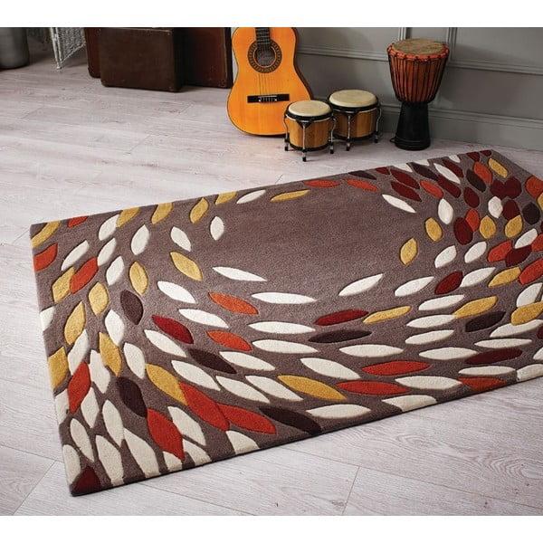 Koberec Flair Rugs Swirl Ochre/Red, 120 x 170 cm