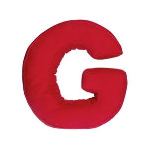 Látkový polštář G, červený
