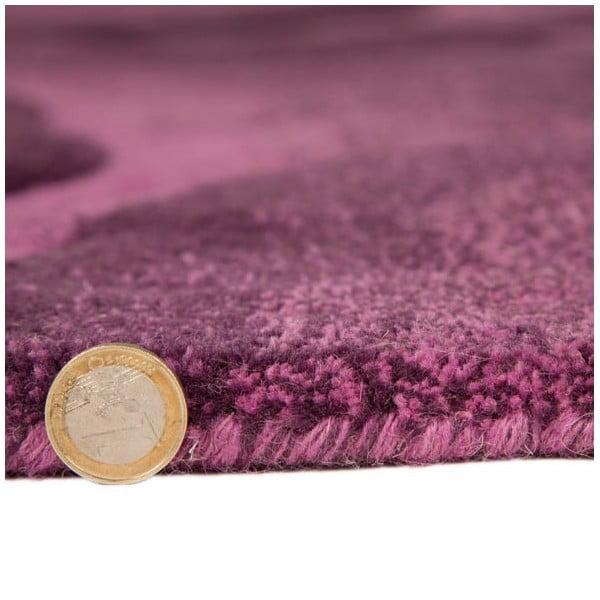 Vlněný koberec Realm 150x240 cm, fialový