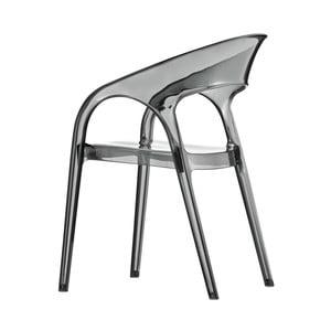 Židle Gossip 620, transparentní kouřově šedá