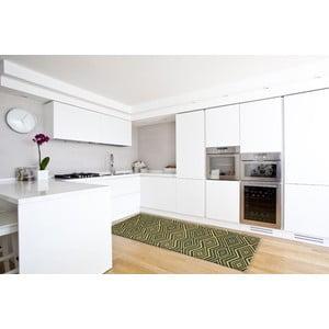 Vysoce odolný kuchyňský běhoun Webtappeti Hellenic Green,60 x 150cm