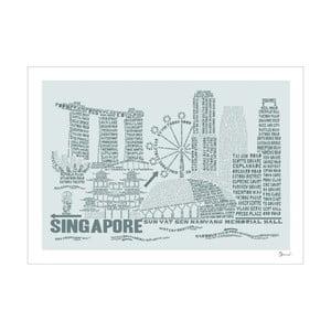 Plakát Singapore Grey&Grey, 50x70 cm
