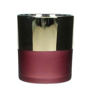 Skleněný svícen HF Living Small Burgundy vínové barvy