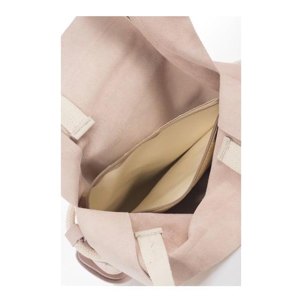 Pudrově béžová kožená kabelka Giulia Massari Darcy