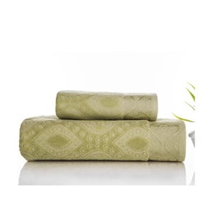 Sada 2 ručníků Sal Green, 50x90 cm a 70x140 cm