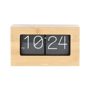 Ceas de birou și masă Present Time Boxed Flip, bej deschis