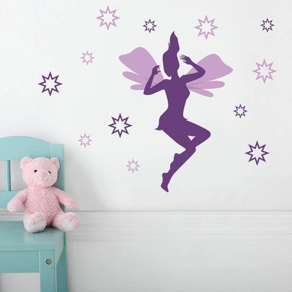 Samolepka na zeď Víla a hvězdy, 70x50 cm
